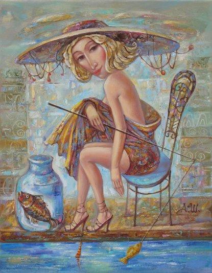 Alexander Nikolaevich Shabanov. FISHERMAN ... FISHERMAN Oil on canvas 35 * 45