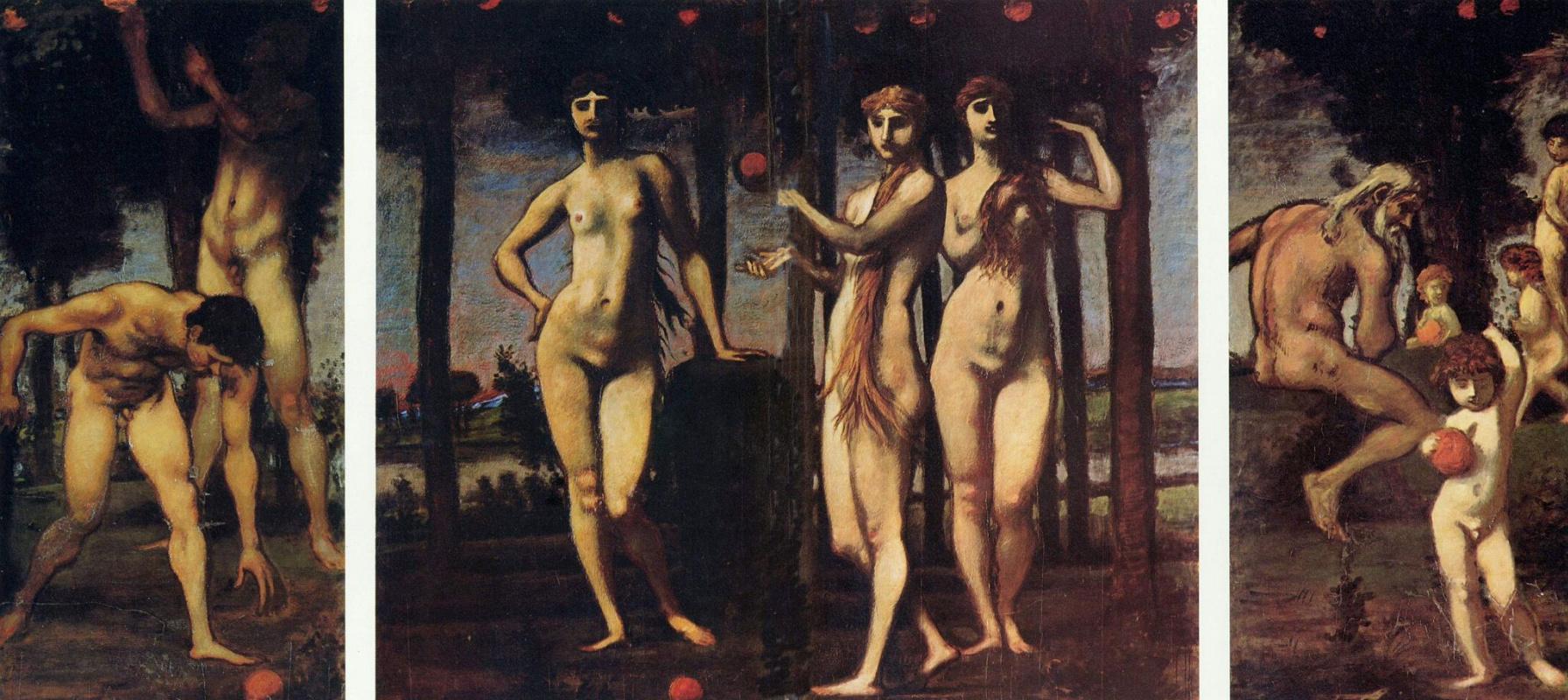 Hans von Mare. Triptych: Hesperide