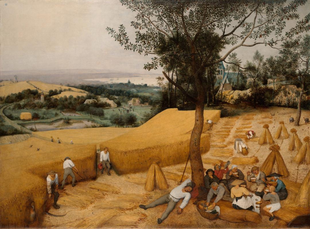 """Pieter Bruegel The Elder. Harvest. The """"Seasons"""" cycle, the end of summer"""
