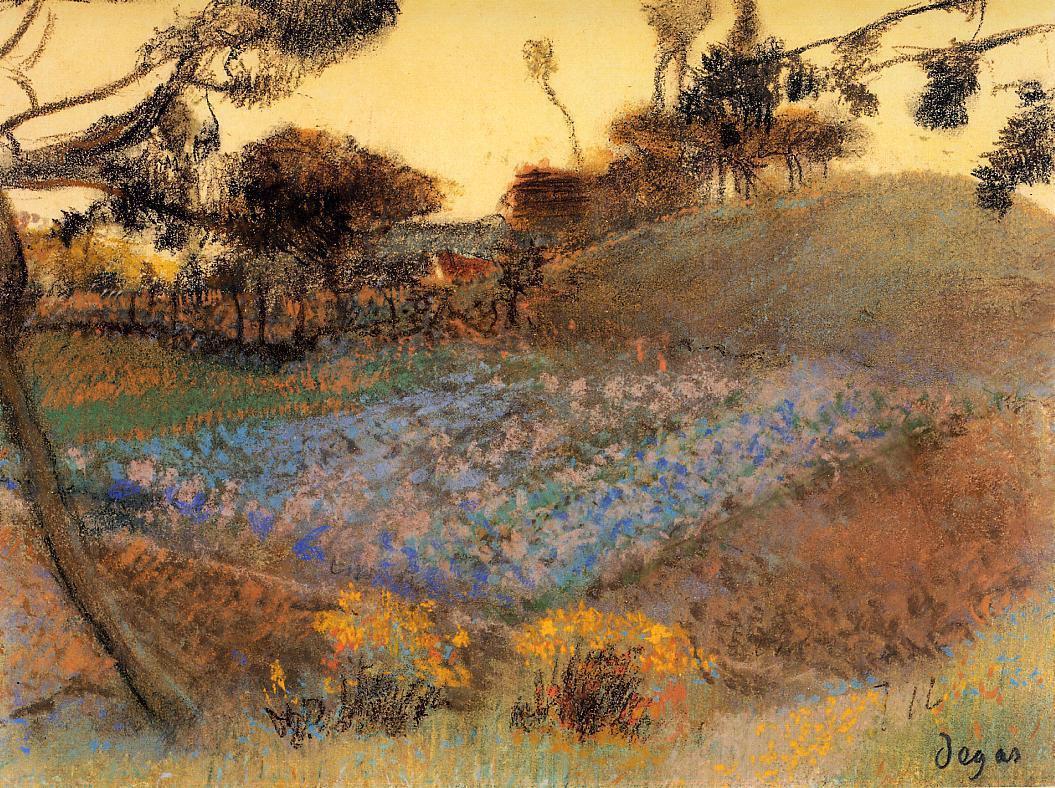 Эдгар Дега. Льняное поле