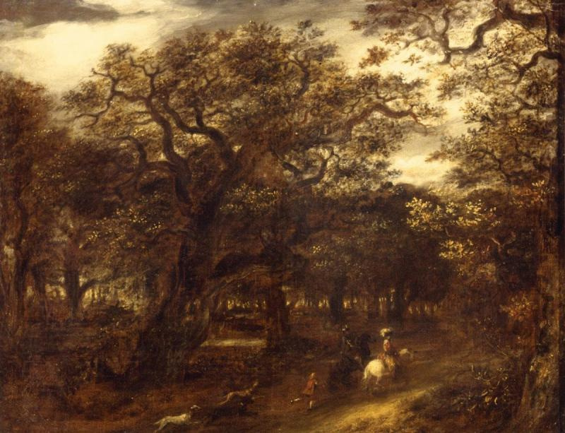 Jan Lievens. Forest landscape