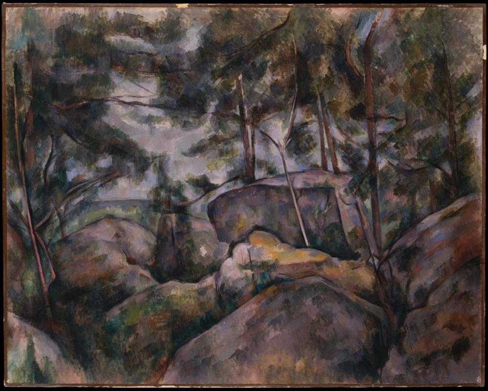 Поль Сезанн. Скалистый лес в Фонтенбло