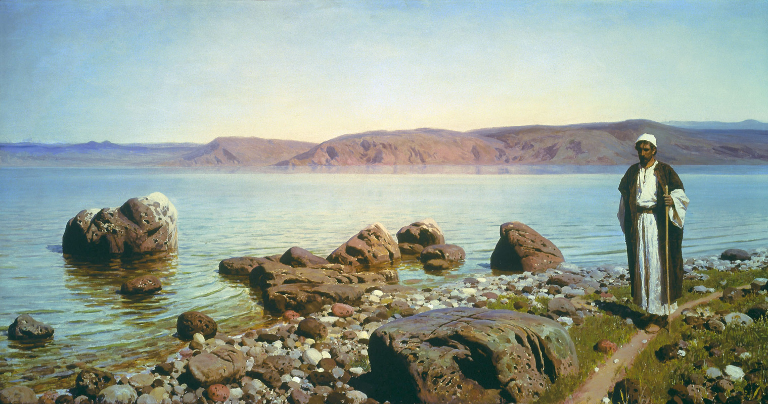 Vasily Polenov. On the sea of Galilee (Genisaretsky) lake