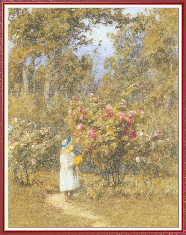 Helen Allingham. The choice of colors