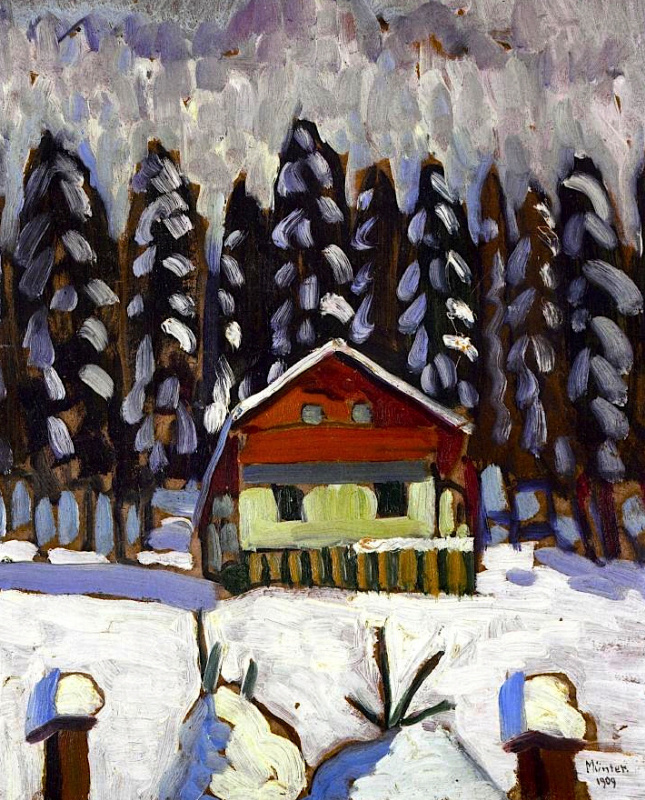 Gabriele Münter. The cabin in the woods