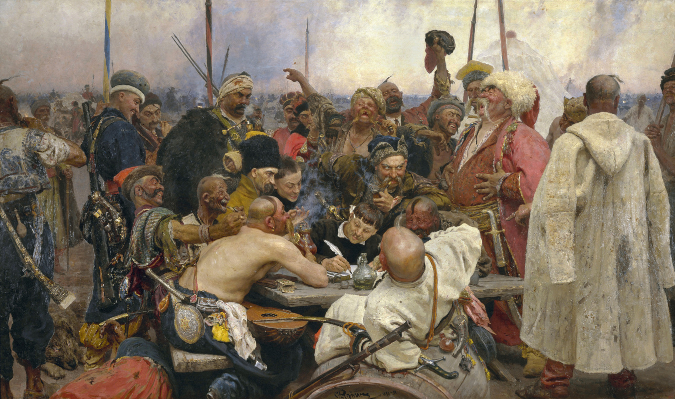 Ilya Efimovich Repin. Cossacks writing a letter to the Turkish Sultan