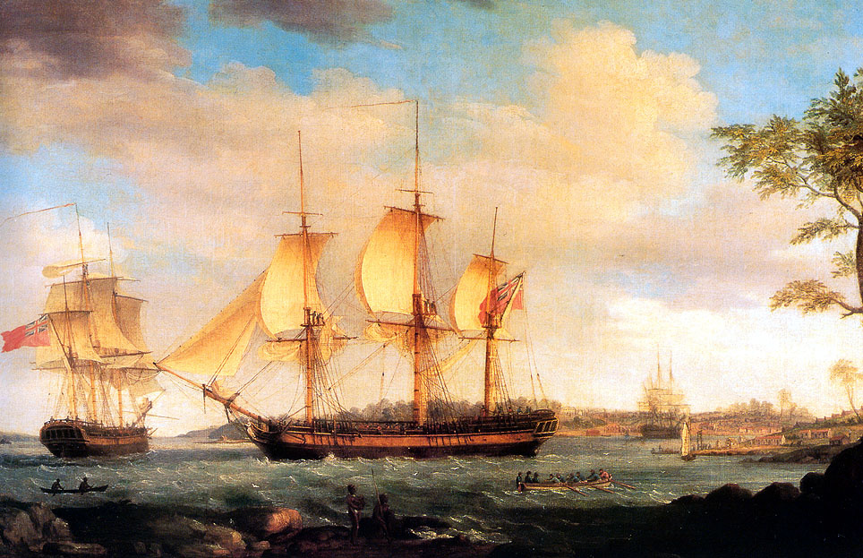 Thomas Whitcombe. The departure of the whaling ship