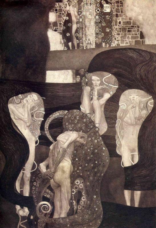 Gustav Klimt. Law. The ceiling paintings for Vienna University (photo)