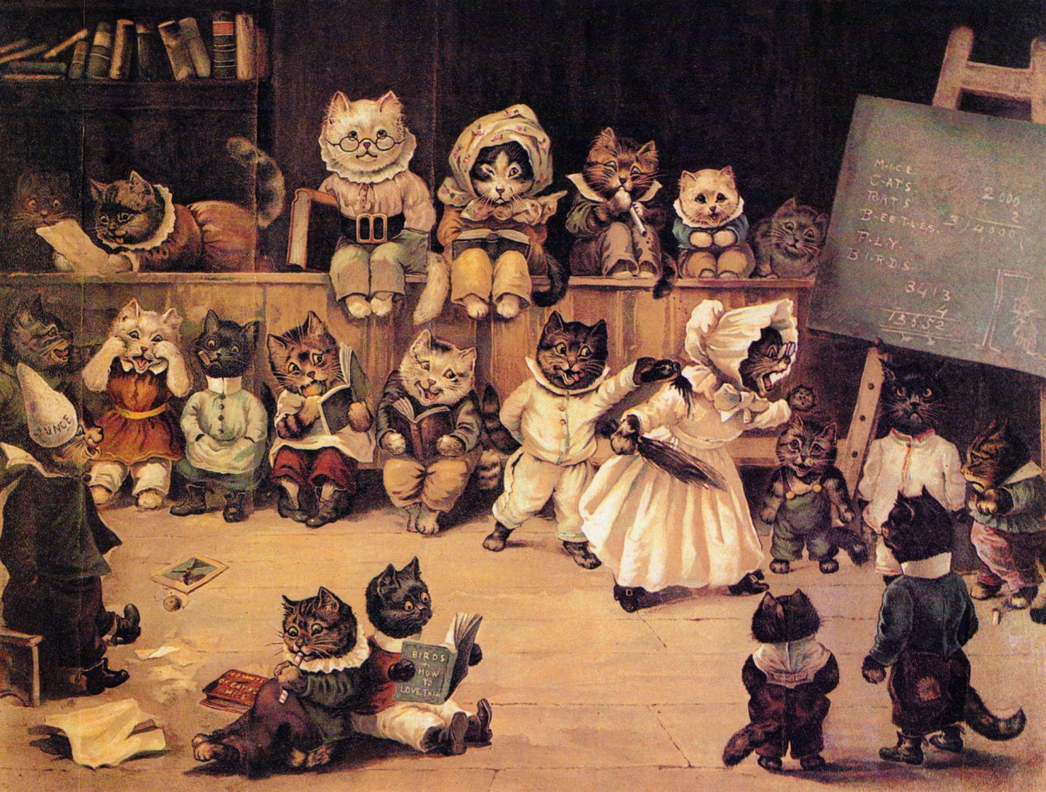 Луис Уэйн. Академия кошек