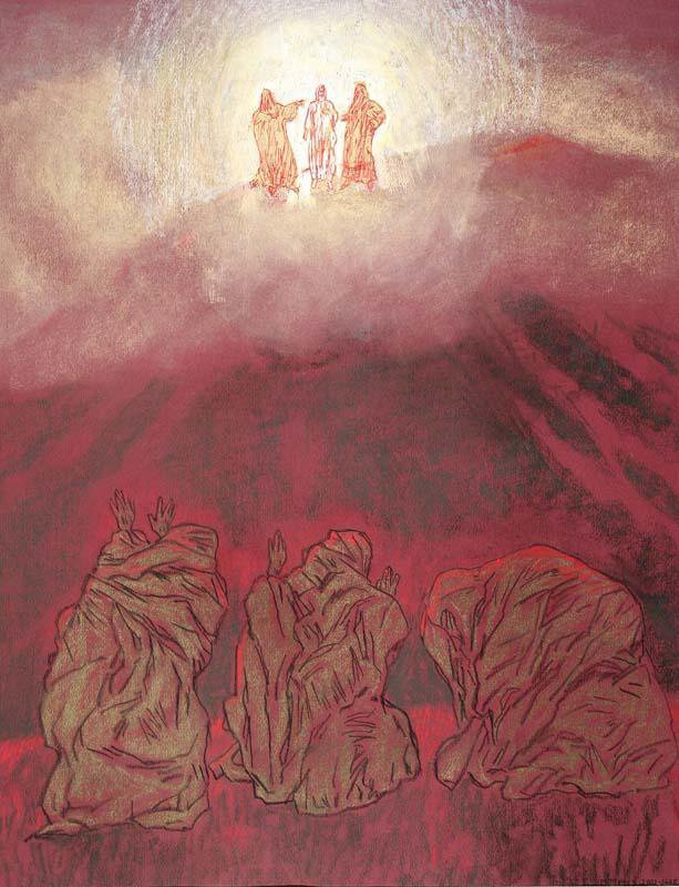 Myud Maryevich Mechev. Transfiguration From a series of illustrations for the gospel