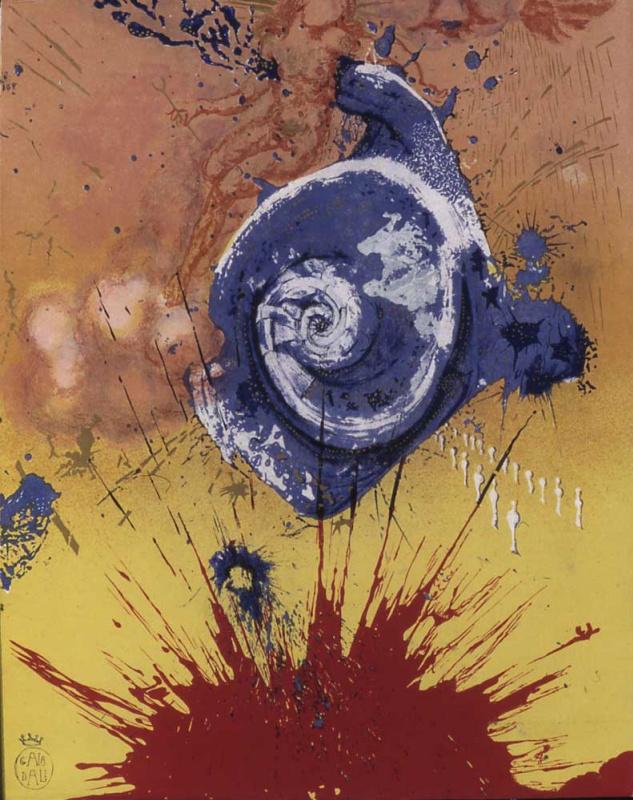"""Сальвадор Дали. Дон Кихот. Рассвет (Иллюстрация к роману """"Дон Кихот"""")"""