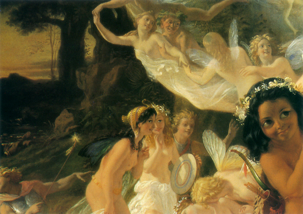 Joseph Noel Paton. The quarrel of Oberon and Titania