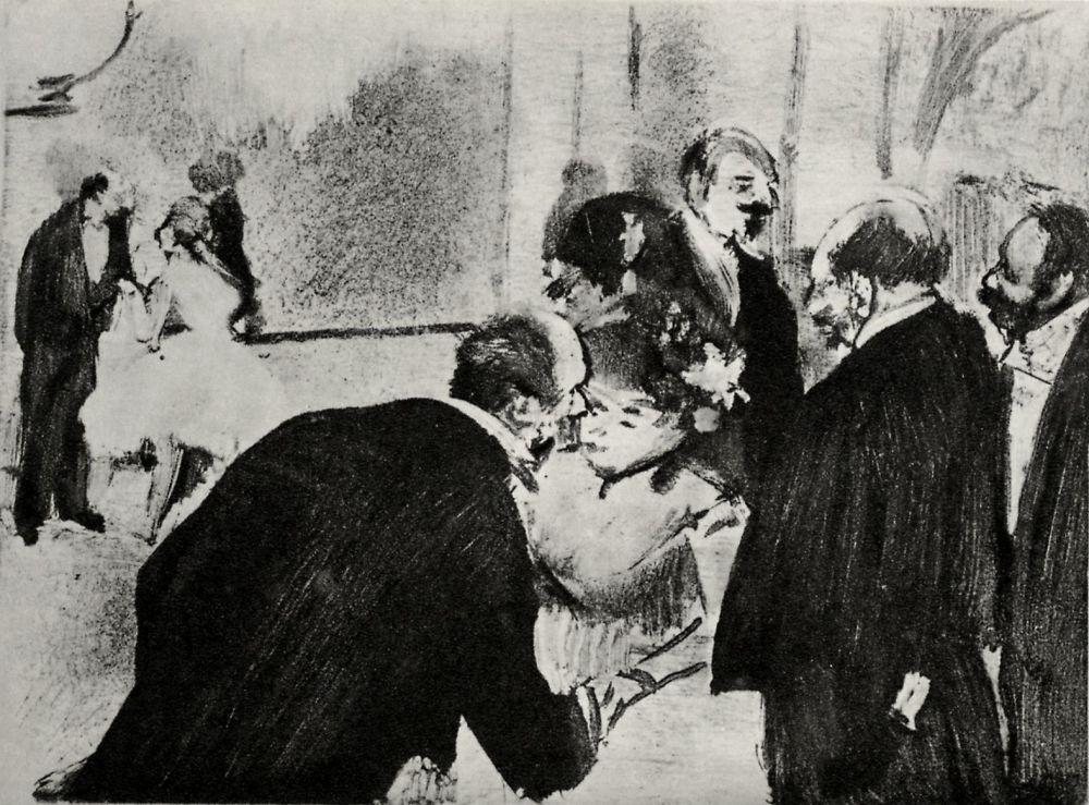Edgar Degas. The conversation in the foyer