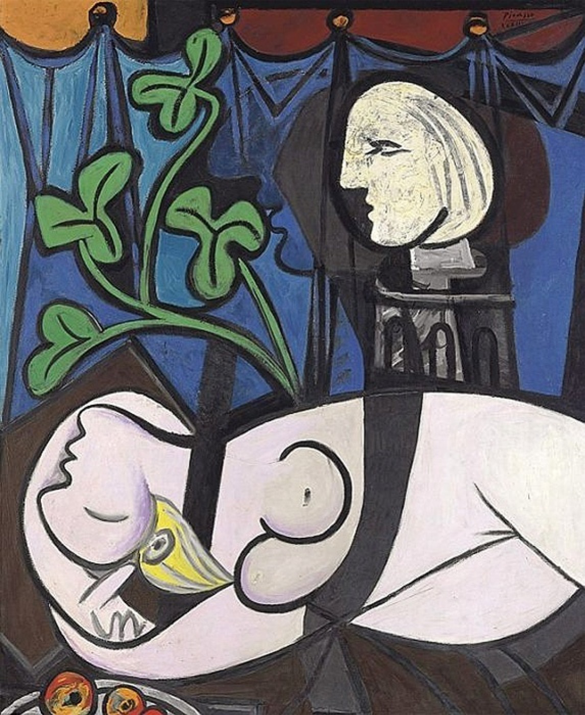 Пабло Пикассо. Обнаженная, зеленые листья и бюст
