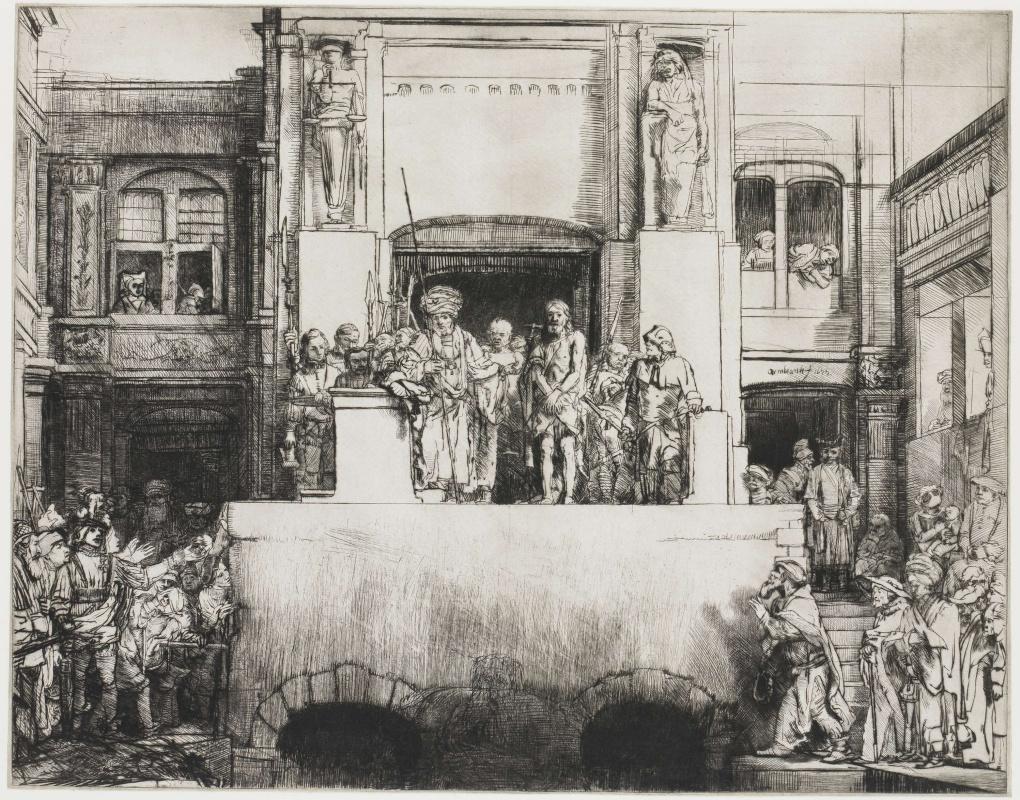 Рембрандт Харменс ван Рейн. Христос перед народом (Ecce homo)