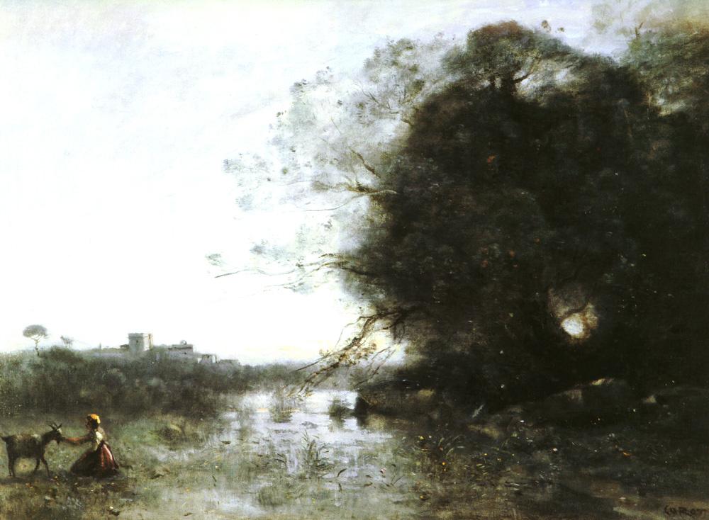 Камиль Коро. Женщина с козой