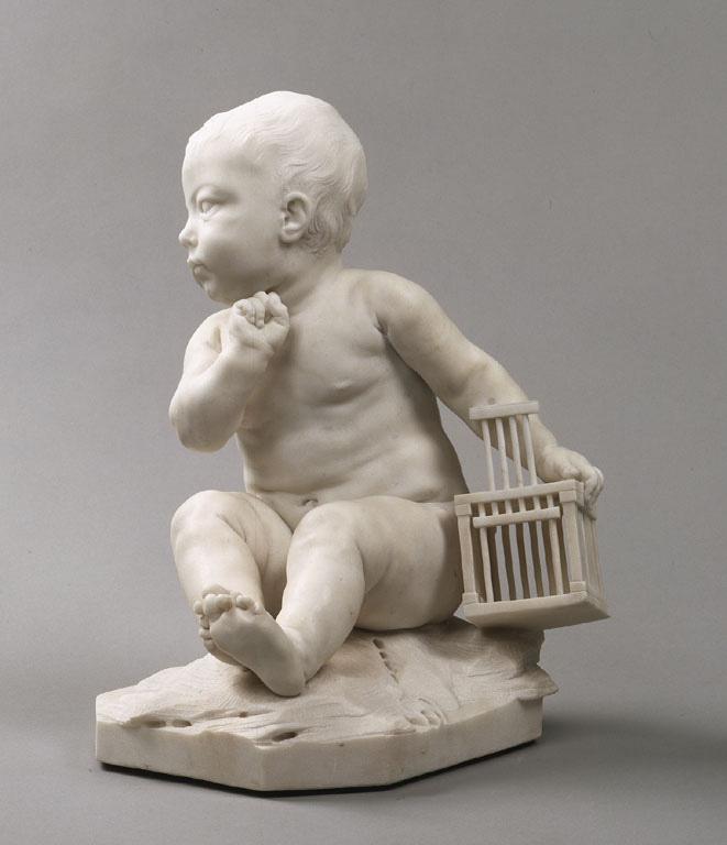 Жан Батист Пигаль. Ребенок с клеткой
