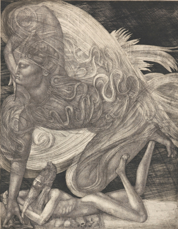 Ernst Fuchs. Samson and the angel