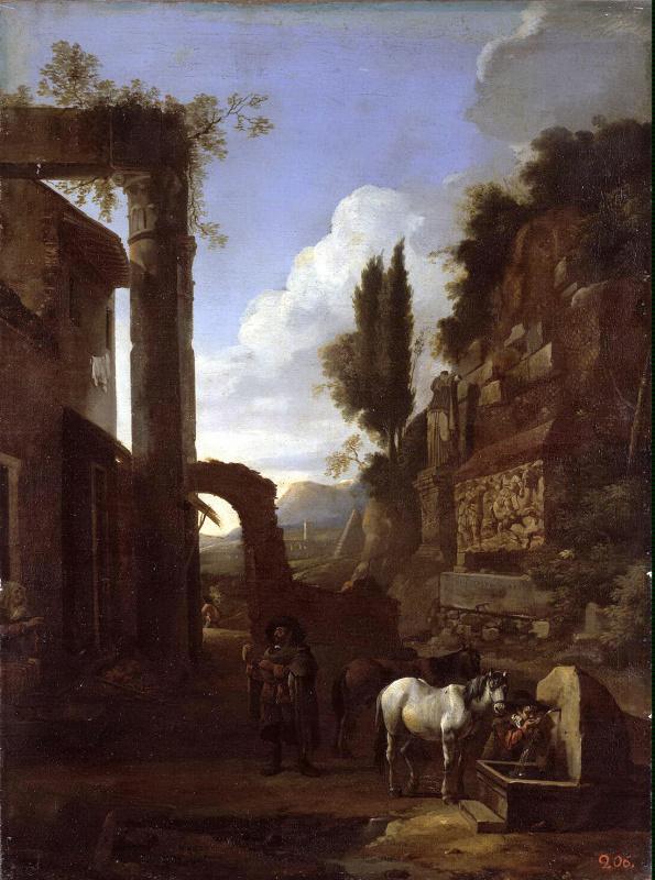 Ян Миль. Дорога в Римской кампании