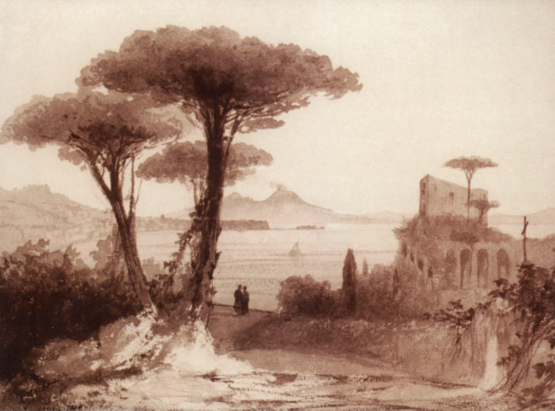 Ivan Aivazovsky. View of Vesuvius from Naples