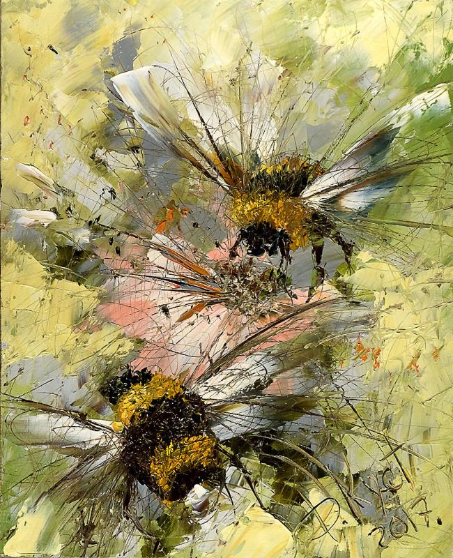 Flight of bumblebees