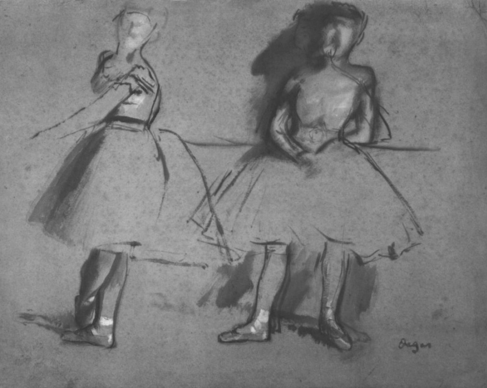 Эдгар Дега. Две балерины у станка