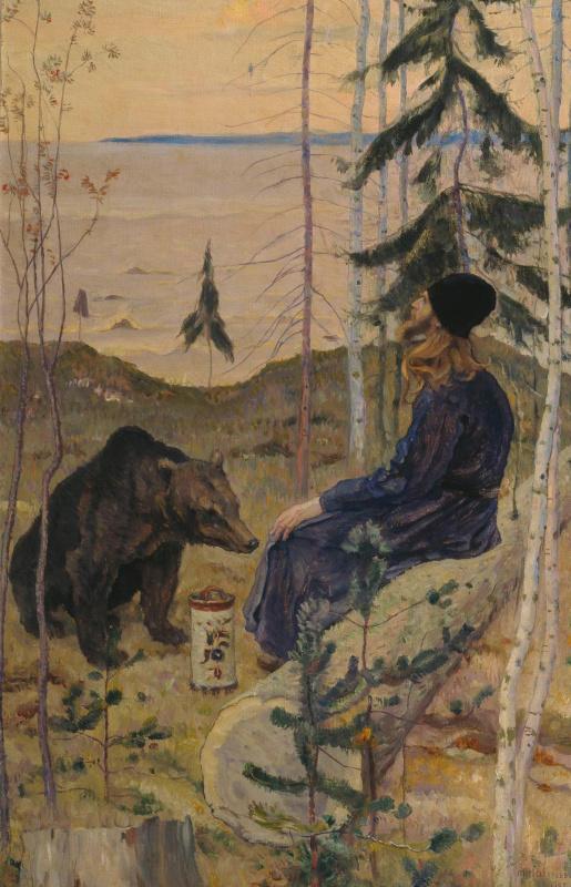 Михаил Васильевич Нестеров. Пустынник и медведь