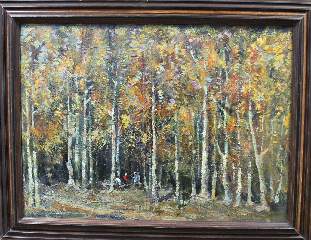 Bezhan Konstantinovich Shvelidze. In the forest