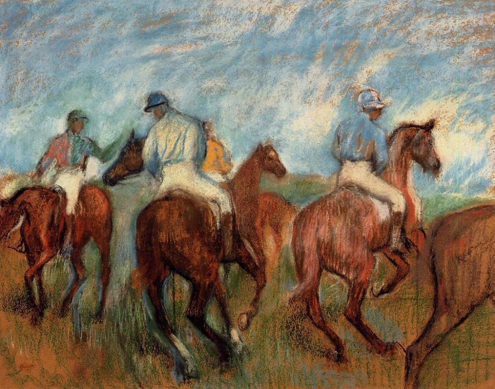Edgar Degas. Jockeys