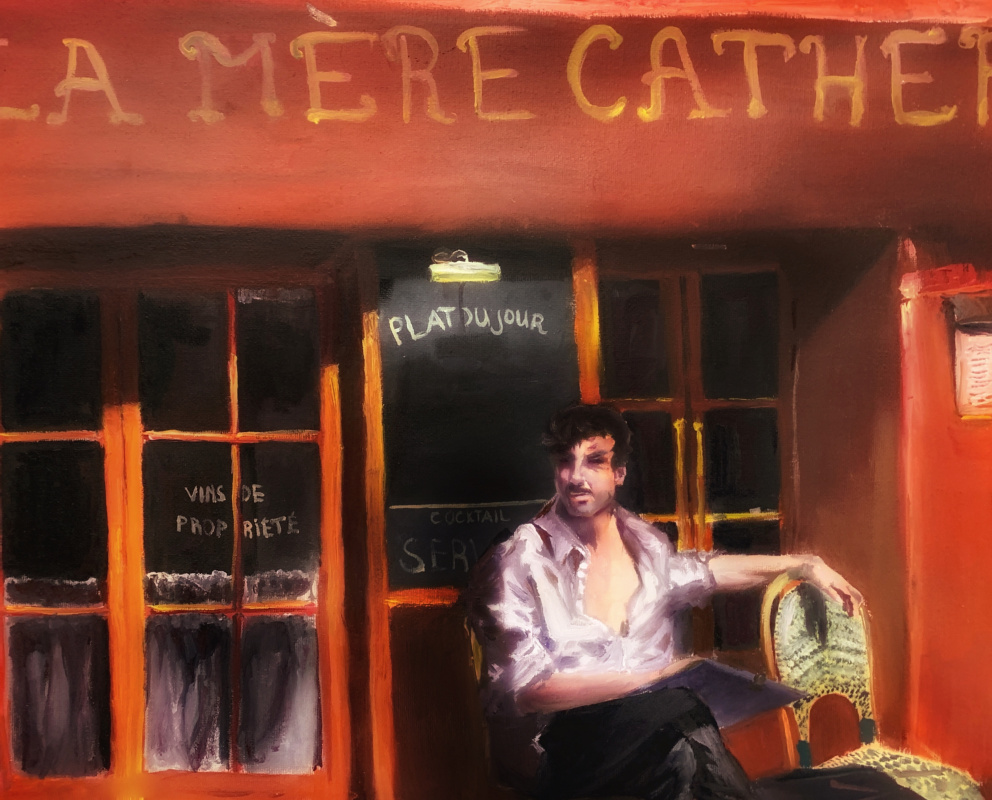 Irina Tabolova. Street portrait artist