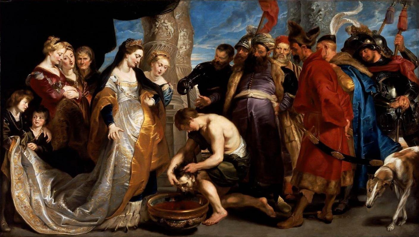 Питер Пауль Рубенс. Царица Томирис приказывает окунуть голову Кира в чан с кровью