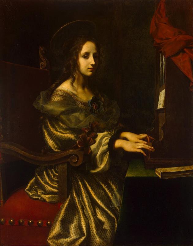 Carlo Dolci. Saint Cecilia