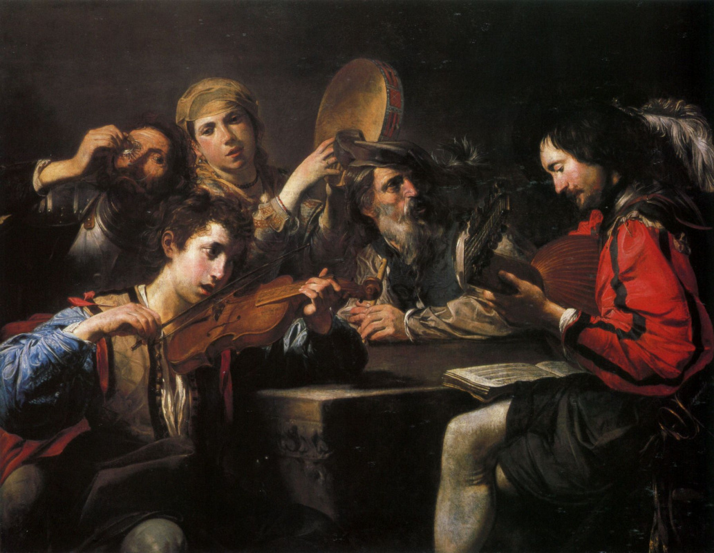 Валантен де Булонь. Концерт для четырёх персонажей и пьяницы