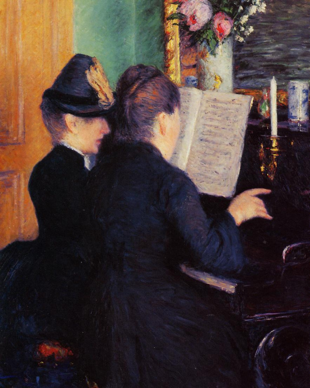 Gustave Caillebotte. The piano lesson