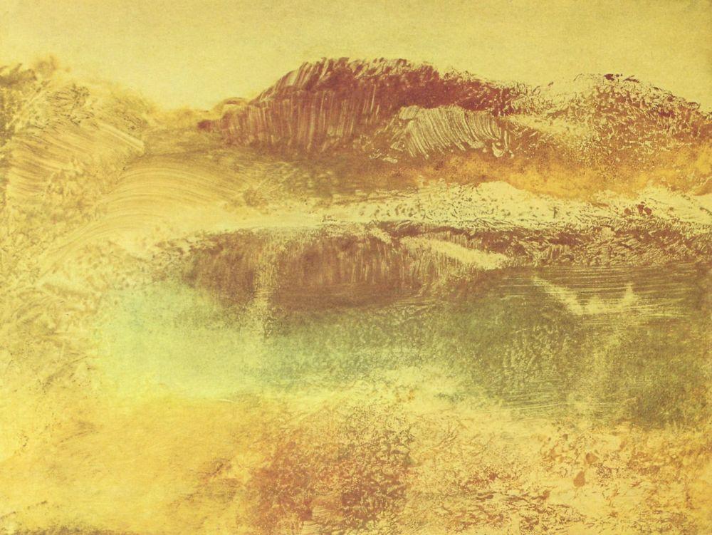 Эдгар Дега. Пейзаж в красных тонах