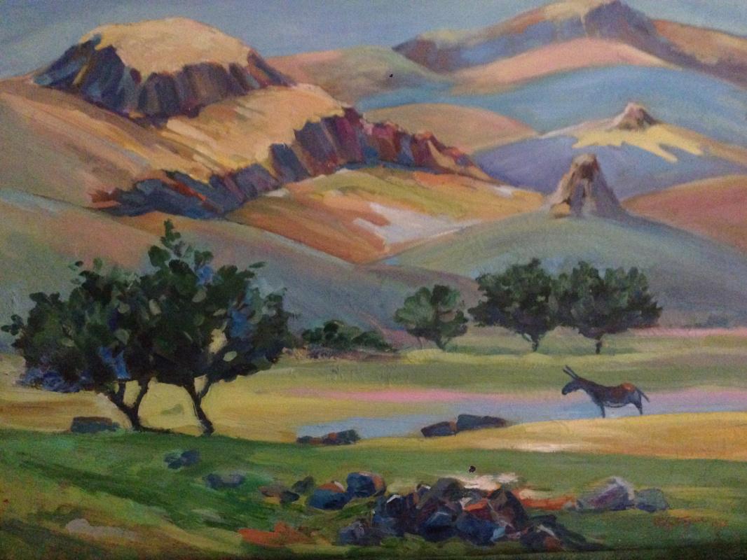 Mher Manukovich Abegyan. Landscape ,, Yegeknadzor mountain ,,