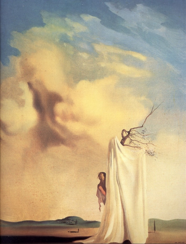 Figure and drapery in a landscape