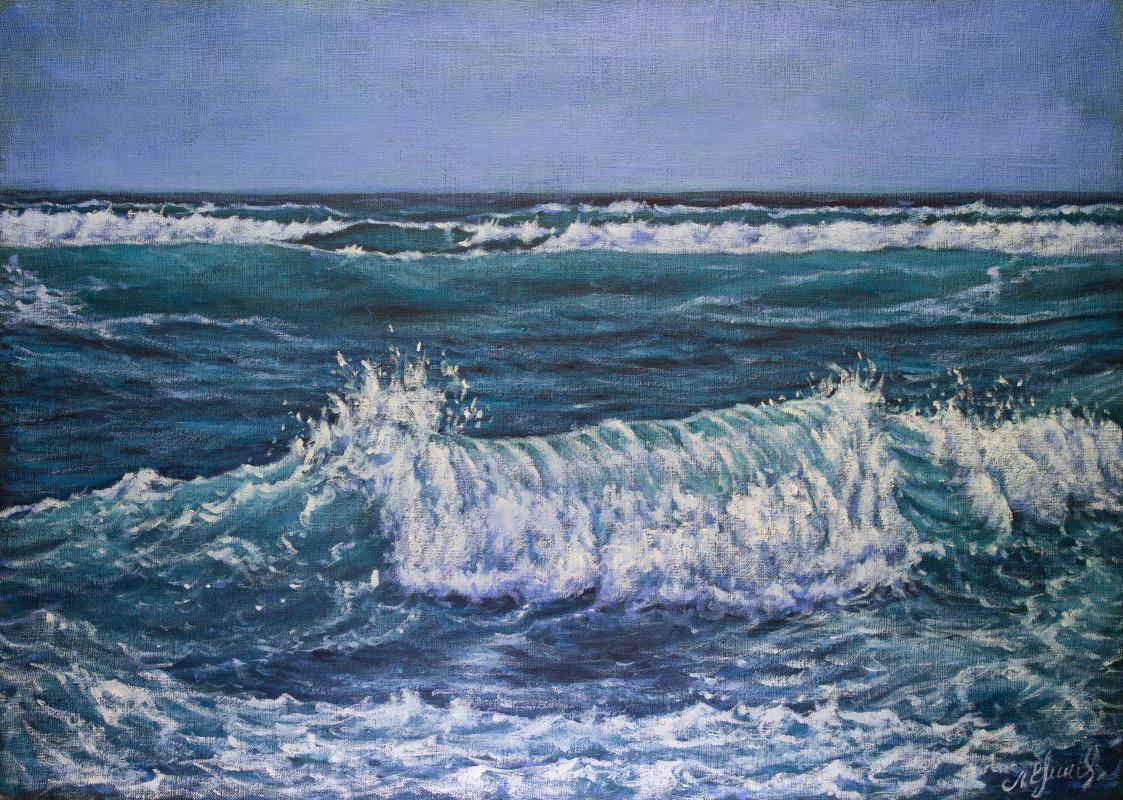 Valery Levchenko. № 626  Морской пейзаж.