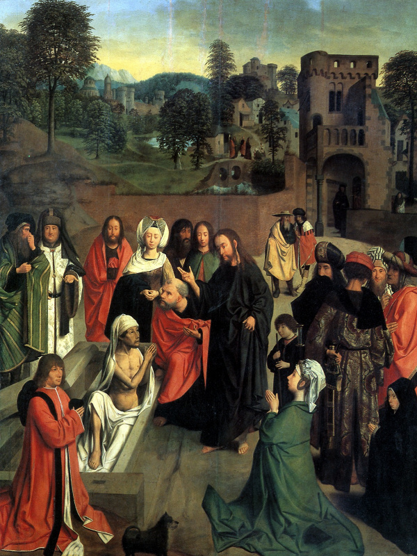 Hertgen the one Sint-Jans. The Resurrection Of Lazarus