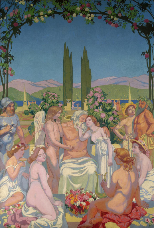 Maurice Denis. In the presence of gods Jupiter bestows immortality to psyche and celebrates her marriage with Cupid