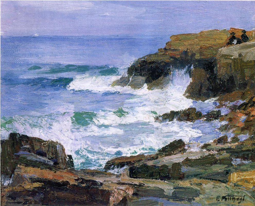 Edward Henry Pottast. Looking at the sea