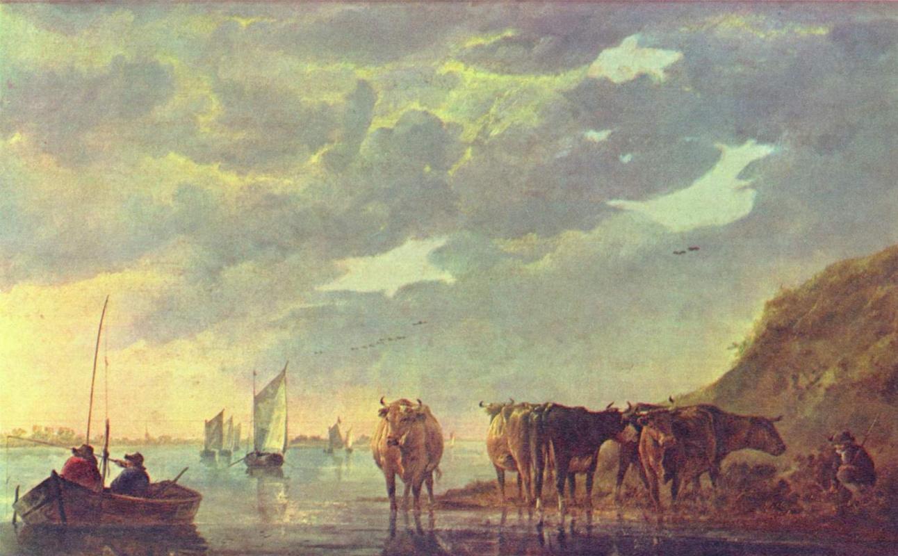 Альберт Кейп. Коровы у реки