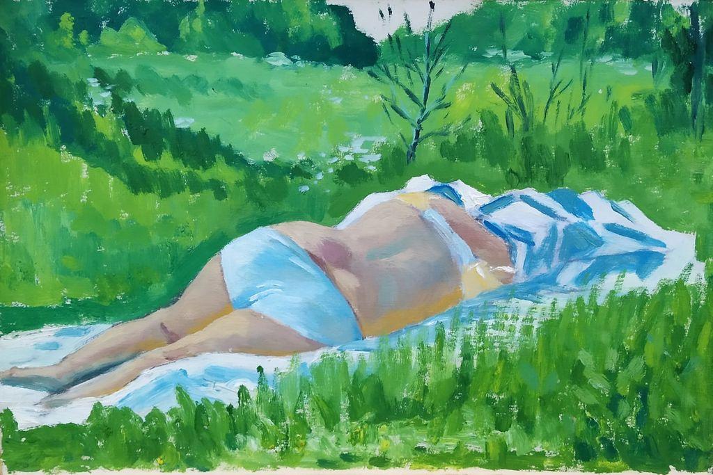 Yuri Grigorievich Ushkov. Summer