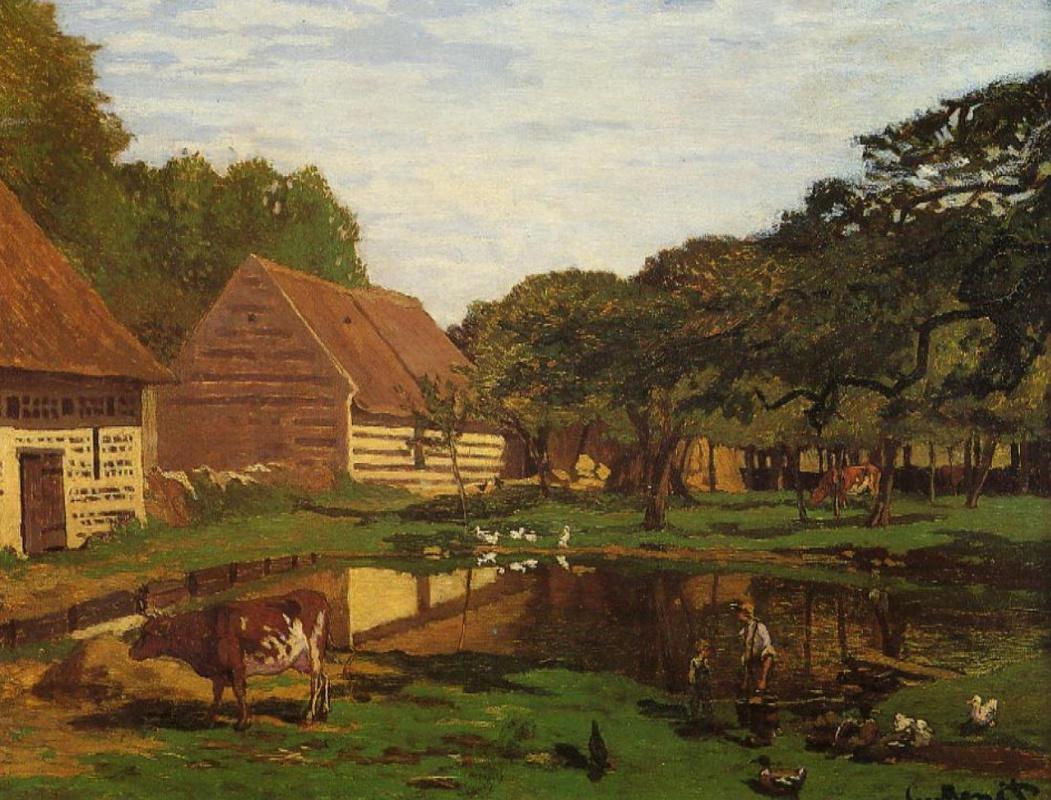 Клод Моне. Ферма в Нормандии