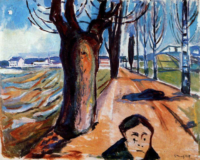 Edvard Munch. Killer on the road