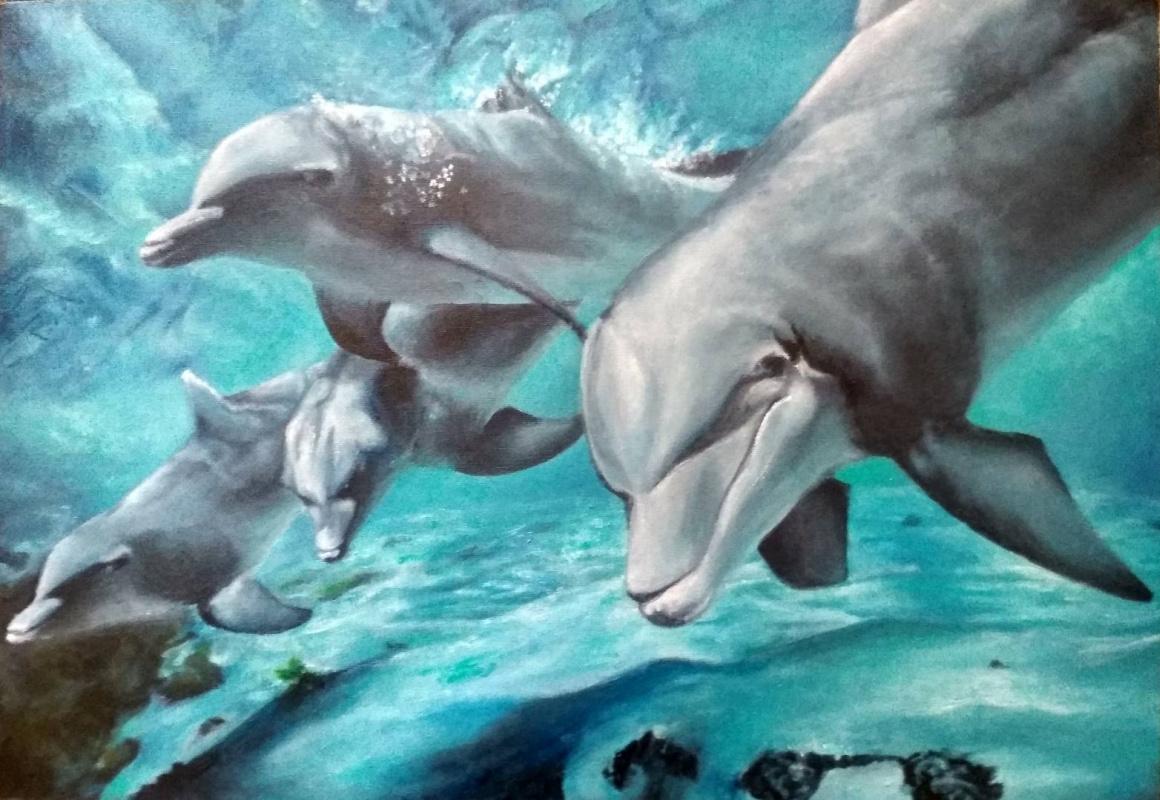 Valentina Tomilova. Dolphins
