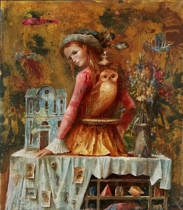 Sergey Nikolayevich Lukyanov. Girl with a golden owl