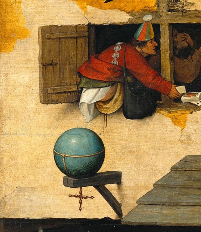 Pieter Bruegel The Elder. Flemish proverbs. Fragment: Defeating the world - respecting nothing