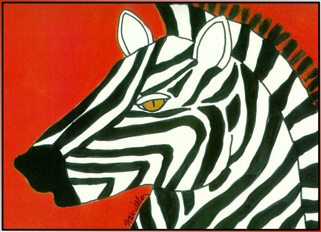 Gabriella Denton. Zebra