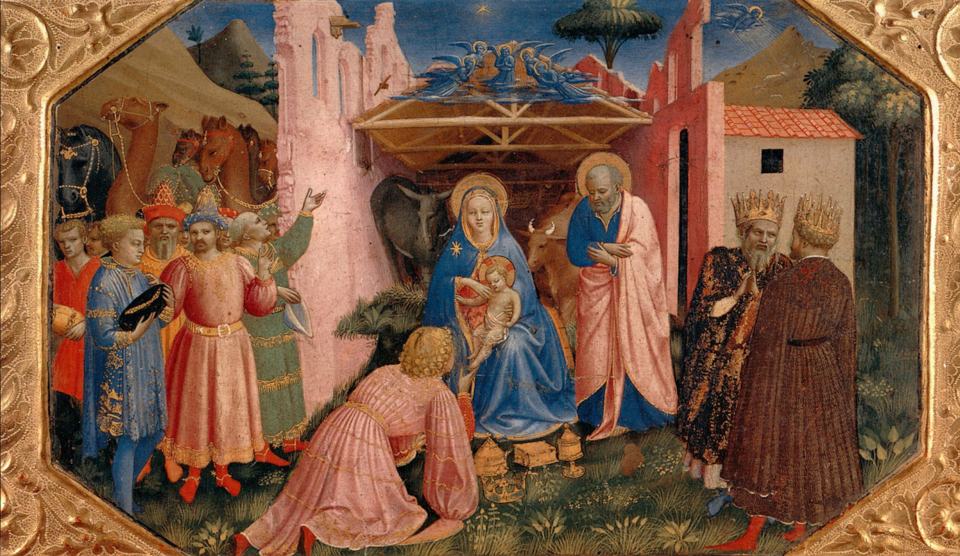 Fra Beato Angelico. Adoration of the Magi. Preamble altar Annunciation of Mary